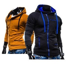 Men's Fashion Casual Hooded Sweater Cardigan Zipper Male - $53.04