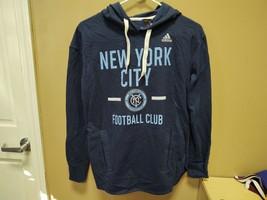 New Adidas MLS New York FC Navy Hoodie Sweatshirt Ladies Sz Small B486W - $19.00