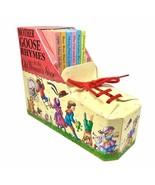 1995 Vintage Mother Goose Rhymes Book Set - Old Woman's Shoe Box w/ 6 Mi... - $13.98