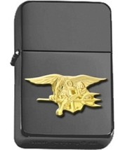 Matte Black Gold US Navy Seal Insignia Star Lighter - GOLD - $14.84