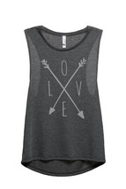 Thread Tank LOVE Cross Arrows aka Cross Love Arrows Women's Sleeveless Muscle Ta - $24.99+
