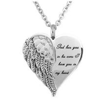 Stainless Steel Remembrance Urn Heart Pendant [PEN-292] - $18.70