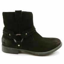 Earth Womens Ash Everglade Ankle Boots Black Leather Round Toe Side Zipper 9.5 M - $49.49
