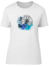 White Daisy On Watercolor Stain Women's Tee -Image by Shutterstock - $9.86+