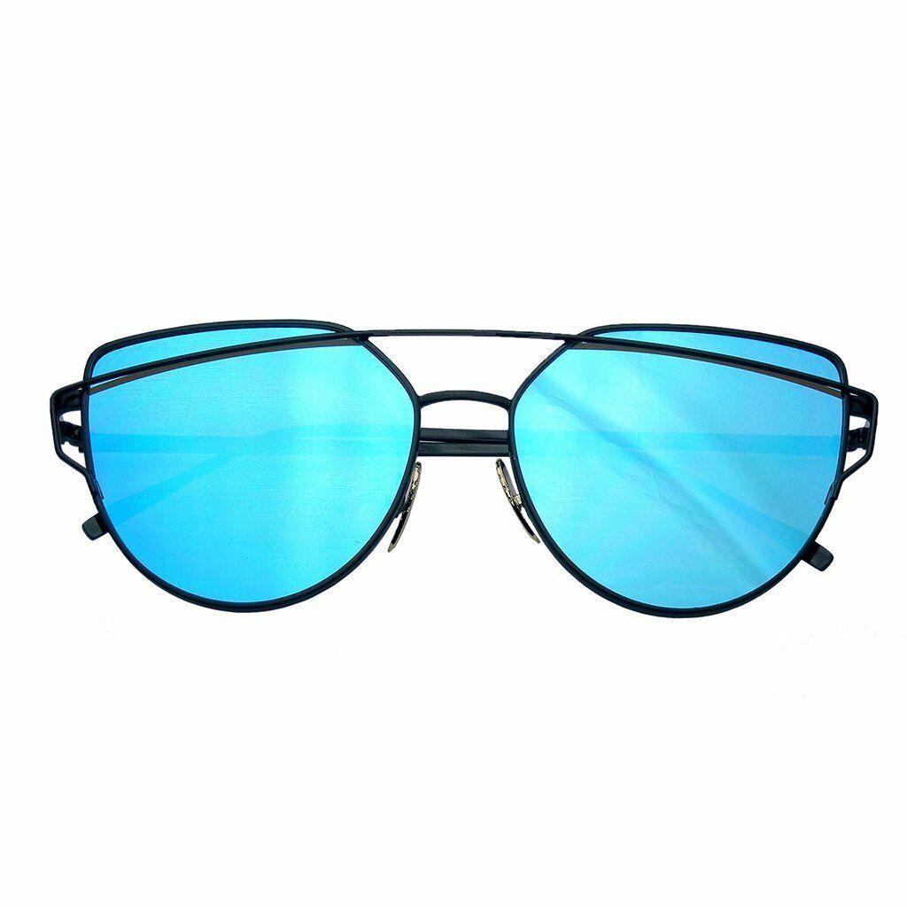 Emblem Eyewear - Women's Modern Retro Flat Reflective Sunglasses Lens