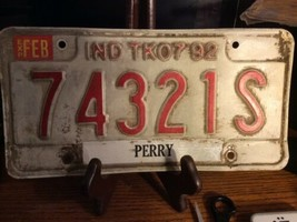 Vintage Indiana License Plate -  - Single Plate  1992 - $9.89
