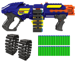 Gun Zombie Blaster Strike Rapid Fire Foam Soft Darts Nerf Kids Enjoy Fun... - $55.61