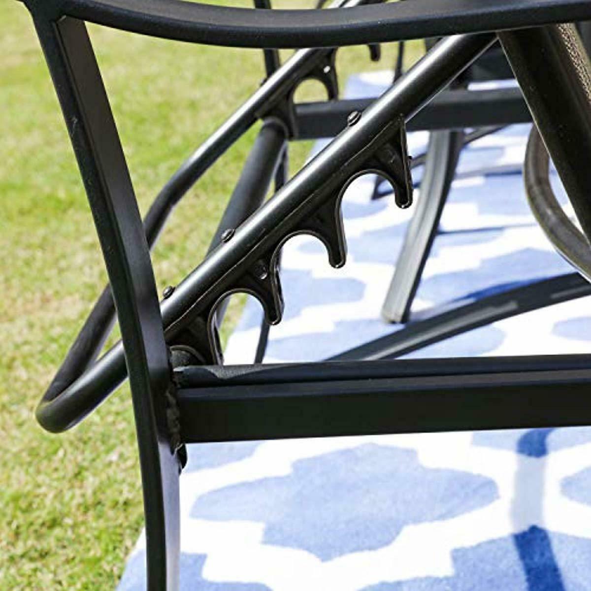 Sillas Reclinables Para Playa Piscina Y Jardin Comodas 3 Piezas Incluye Mesa