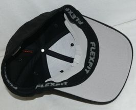 Flexfit Black 6277 Twill Hat L XL Permacurv Visor With Silver Undervisor image 7