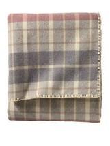 Pendleton Eco-Wise Wool Washable King Blanket, Blush/Grey Plaid - $456.24 CAD