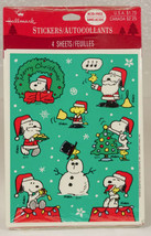 Vintage Hallmark Peanuts Snoopy Christmas Stickers 4 sheets New in Packa... - $9.99