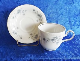 Johann Haviland Cup & Saucer Blue Garland Vintage Fine China Barvarian (Germany) - $9.49
