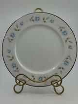 "4 International Silver Elegant Lady Fine China dinner Plate 10.25"" Blue Flowers  - $39.99"