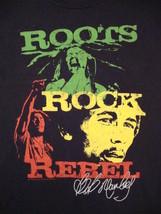 Bob Marley Roots Rock Rebel Rasta Ska Reggae Music Smokes Be Happy T Shi... - $14.84