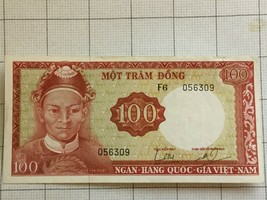 1966 South Vietnam 100 Dong Note #19 - $40.00