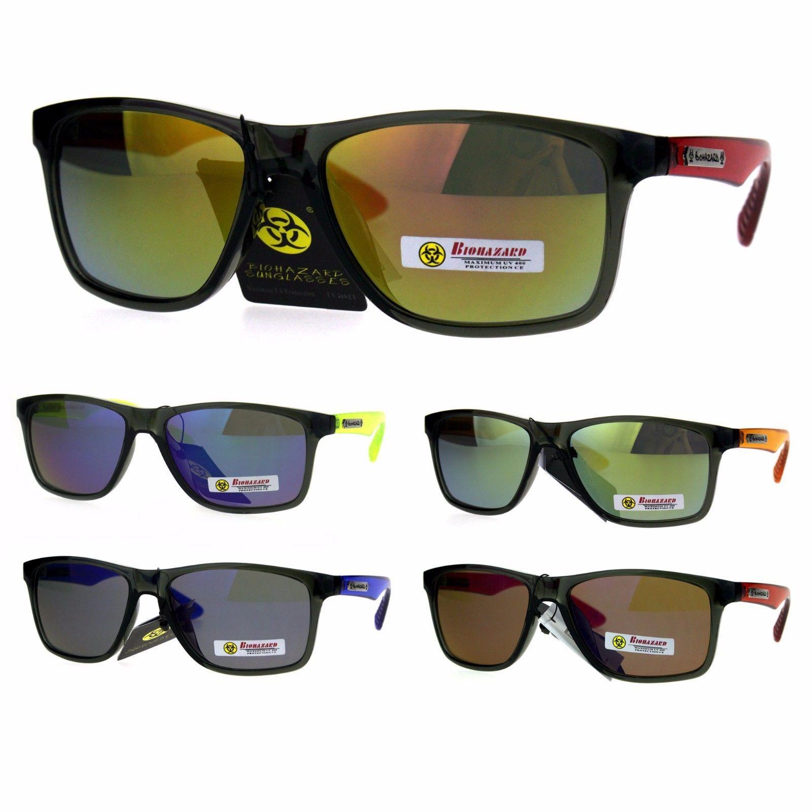 56c99a4f894 S l1600. S l1600. Previous. Biohazard Mens Reflective Color Mirror Thin  Plastic Sport Sunglasses