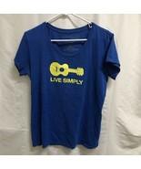 Patagonia Live Simply Guitar T-Shirt Women's Size XL - $19.79