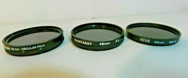 49mm Camera Lens Filters Quantaray Cokinlight Hoya Circular Lot of 3 - $25.19