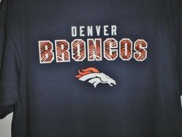 Denver Broncos NFL Football Short Sleeve T-Shirt Navy Mens Medium image 2