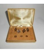 Swank Abalone Cufflinks & Buttons Studs Vintage Men's Accessories - $23.75