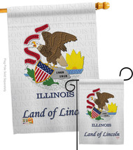 Illinois - Impressions Decorative Flags Set S108113-BO - $57.97
