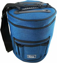 Blue Yarn Storage Travel Bag Tote Case for Knitting and Crocheting Great... - $49.00