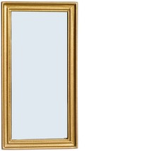 Dollhouse Lincoln Mirror Framed Town Square T6747 Goldtone Miniature - $11.70