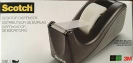 3M Scotch Value Desktop Tape Dispenser, Two-Tone Black, 1 Inch Core,(C60... - $6.64