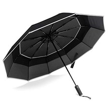 BANANA UMBRELLA, Windproof Compact Travel Umbrella, Auto Close and Open ... - $29.77