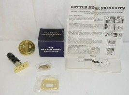Better Home Products 10803PB One Sided Deadbolt Polished Brass image 1