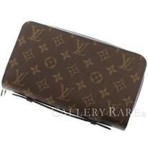 LOUIS VUITTON Zippy XL Monogram Macassar Canvas M61506 Wallet Authentic ... - $1,230.60