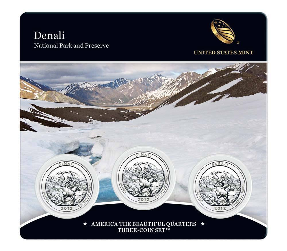 Primary image for 2012 US Mint America The Beautiful 3 Coin Set Denali National Park