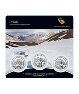 2012 US Mint America The Beautiful 3 Coin Set Denali National Park - $21.95