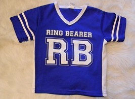 Wedding Rehearsal RING BEARER Boys Shirt Blue White - €12,34 EUR