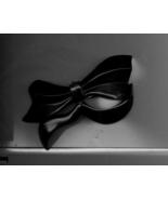 Big Black Bow Vintage Barrette - $5.00