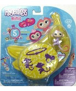 FINGERLINGS MINIS 5 Piece Set Reese Purple Monkey 3 Figurine Charm and B... - $5.81