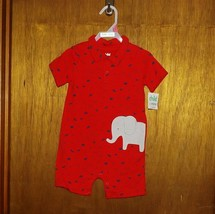 Carter's Child of Mine Red Print w/ Elephant 1 Pc Play Suit  - $12.99