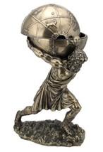 VERONES 12 Inch Greek God Atlas Statue w/Globe Container Sculpture Figur... - $69.00