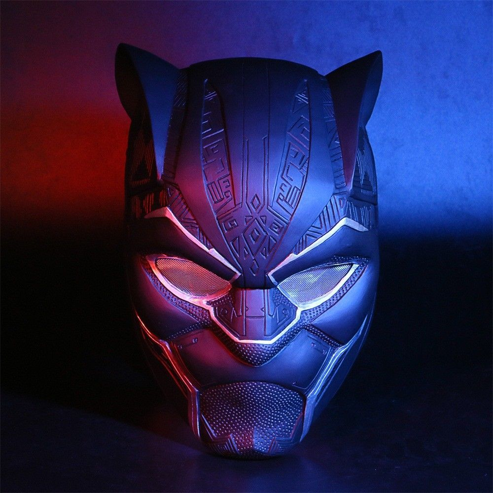 2018 NEW Black Panther T/'Challa Mask Full Face Helmet Halloween PVC Mask Prop