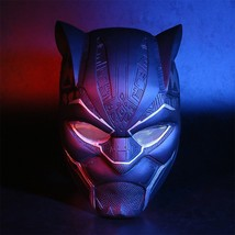 2018 Black Panther LED Mask T'Challa Cosplay Helmet Mask Prop NEW Version Style - $50.29+
