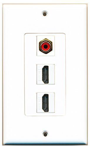 Primary image for RiteAV  1 RCA Red Port and 2 HDMI Female Decorative Wall Plate