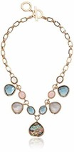 Anne Klein Women's Gold/Multi Shaky Frontal Necklace - $54.58
