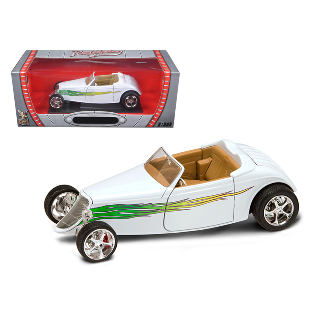1933 Ford Roadster White 1/18 Diecast Car by Road Signature 92838w