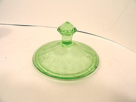 Green Floral Depression Glass Candy Lid Jeanette - $7.99
