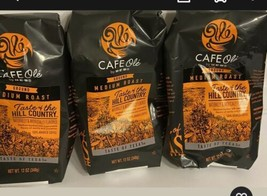 3 HEB Cafe Ole Taste Of The Hill  Country Ground Medium Roast Coffee  12 Oz Ea - $49.47