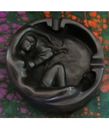 Nude Art Soapstone Ashtray Sculpted Decorative ... - $20.99