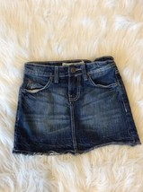 Denim Jean Skirt Adjustable Waist Girls 7 Paper Denim Cloth - £7.56 GBP