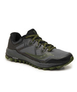 Saucony Peregrine 8 Men's Running Shoes Grey/Black/Green Size 9 M - $59.39
