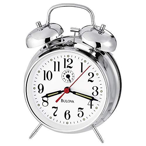 Bulova B8127 Bellman II Alarm Clock, Chrome - $39.60