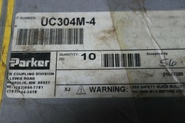 Parker UC304M-4 Male Thread Universal Coupler Brass Body New Pack 0f 2 image 2